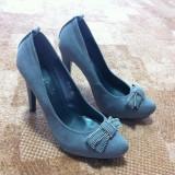 Pantofi de dama cu toc inalt marimea 37 - Pantof dama, Camel