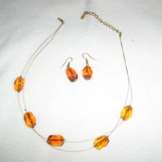 Set superb colier + cercei - Set bijuterii handmade si fashion