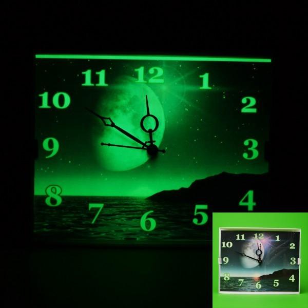 Ceas de perete super fosforescent glow care lumineaza in intuneric foto mare