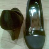 Pantofi - Pantof dama, Marime: 35, Culoare: Negru, Negru