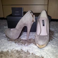 Pantofi Denis - Pantof dama, Marime: 37, Culoare: Bej, Bej