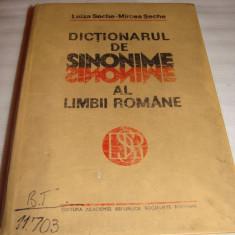 DICTIONARUL DE SINONIME AL LIMBII ROMANE - Luiza Seche / Mircea Seche - Dictionar sinonime