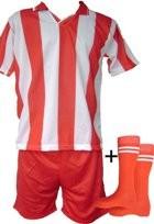Echipamente de fotbal rosu-alb seniori foto mare