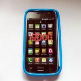Vand husa silicon TPU Samsung Galaxy S1/S1 Plus/SL culoare albastra(calitate foarte buna)
