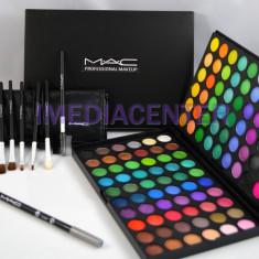 Trusa machiaj profesionala farduri 120 culori MAC + CADOU Set 7 pensule machiaj - Trusa make up
