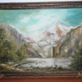 TABLOU PEISAJ MUNTOS - Pictor roman, Peisaje, Impresionism