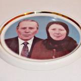 Foto ceramica pentru cruci funerare ( color, marime mica, doua persoane )