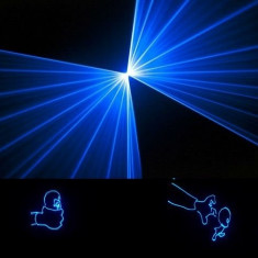 Laser albastru profesional 1W 1000mW, laser club, laser RGY,, laser dj, 1W, 3W, 4W, 5W, 6W, 7W, laser color, lumini laser, laser grafic, - Laser lumini club