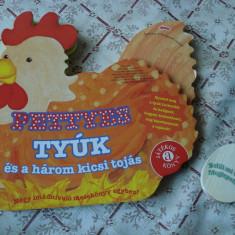 Carte educativa copii cartonata lucioasa Pettyes Tyuk sunet de gaina limba maghiara story ilustrata - Carte personalizata