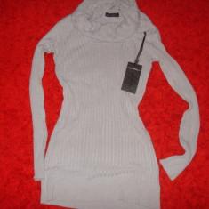 BLUZA DRAGUTA POTEIVITA COLANTI - Bluza dama, Marime: M, Culoare: Bej, M/L, Maneca lunga, Universala