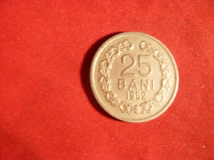 Moneda 25 Bani 1952 ,metal alb , cal.apr.NC foto mare