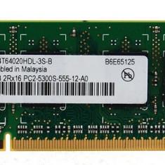 2x512MB DDR2 SODIMM Infineon/Qimonda - 667MHz - Memorie RAM laptop