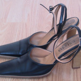 Pantofi de dama originali esisto, piele naturala, made in italy, marime 39, pret 39 ron - Pantofi dama