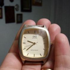 Q&Q - Ceas barbatesc Q&Q - ceasuri de mana Barbatesti, Ceas Q &Q / ceas de mana barbati, Elegant, Quartz, Placat cu aur, Analog, 2000 - prezent