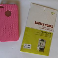Husa - 1 X Carcasa Iphone 4/4S + Cadou Folie Fata si Spate Clara