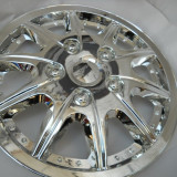 Capace de roti pe 13 crom/nickel spitate model cu suruburi - Capace Roti
