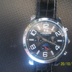 Vand ceas montblanc automatic - Ceas barbatesc Montblanc, Lux - elegant, Mecanic-Automatic, Metal necunoscut, Piele, Ziua si data