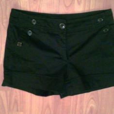 Pantaloni dama H&M, Marime: M, Culoare: Negru, Scurti, Bumbac