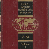 (C1607) STANDARD DESK DICTIONARY DE FUNK - WAGNALLS, 2 VOLUME
