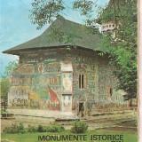 Carte hobby - (C1680) MONUMENTE ISTORICE DIN NORDUL MOLDOVEI, ED. MERIDIANE, 1977, POSETA CU 12+2 IMAGINI PE HARTIE CRETATA, DIM. IMAGINI : 11X14 CENTIMETRI