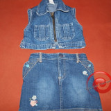 vesta jeans , de blugi, costum de blugi