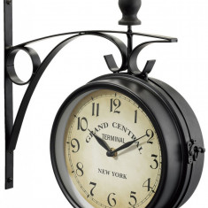 Ceasuri de perete - CEAS 2 FETE GARA RAILWAY STATION NEW YORK EXTERIOR GRADINA BAR