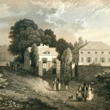 Resedinta lui Jean Jacques Rousseau din Montmorency - Franta - Tipogravura - Meyers Universum 1833-1861 - Pictor strain