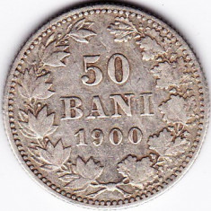 Monede Romania, An: 1900 - Carol I. 50 BANI 1900, argint (3)
