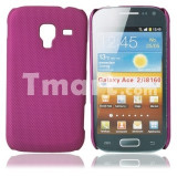 Husa protectie mesh roz Samsung Galaxy Ace Plus s7500 silicon rigid antiradiatii + folie protectie ecran - Husa Telefon