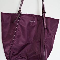 Geanta Calvin Klein 100% originala, import SUA - Geanta Dama Calvin Klein, Geanta sacosa, Mov, Nilon, Medie