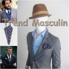 Batista Barbati - Batista de Buzunar Fashion Bleumarin Carouri