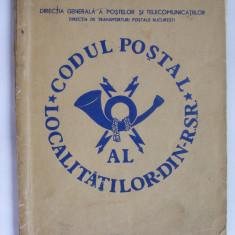 Codul postal al localitatilor din R. S. R. - 1974