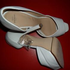 Pantofi Zara 2013 - Pantof dama Zara, Marime: 39, Culoare: Alb, Alb