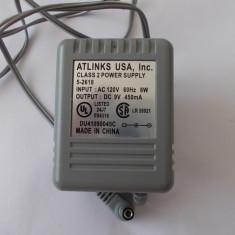 INCARCATOR TELEFON 9v -450 mA, LA 120 V, MODEL du41090045c, De priza