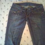 Pantaloni dama, Lungi, Albastru, Marime: 29 - Pantaloni