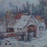 Goblen Peisaj Iarna 36*28 cm + Salcie Plangatoare 26*26 cm - Tapiterie Goblen