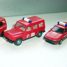 Herpa lot masini 8 servicii speciale / pompieri 1:87 - Macheta auto