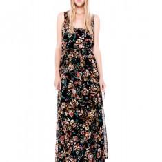 Rochie de zi, Maxi, Fara maneca, Poliester - Rochie dama lunga de vara, maxi, PULL BEAR imprimeu floral(Zara Group Inditex)