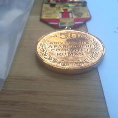 Medalie a-50-a aniversare a pcr +brevet