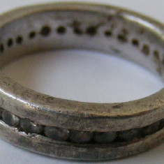 Inel argint - Inel vechi din argint cu multe pietre - de colectie (1)