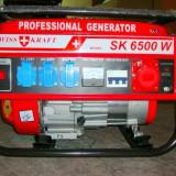 Redresor Auto - Vand generator curent SWISS KRAFT GENERATORS SK 6500W -NOU- (3 x220v, 1x380v, redresor acumulatori auto)