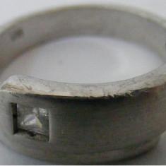 Inel argint - Inel vechi din argint cu piatra incolora - de colectie (2)