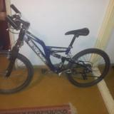 Mc Kenzie Hill 400 - Mountain Bike, 24 inch, Numar viteze: 21, Albastru, Cu amortizor, Drept(Flatbar)