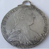 Medalion pandantiv vechi din argint Maria Tereza - de colectie