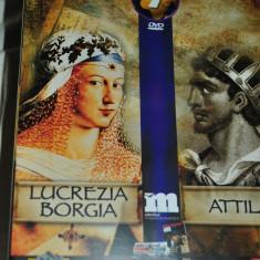 LUCREZIA BORGIA /ATTILA DVD -91 minute - Film documentare, Romana