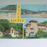 C.P.BAILE SACELUL COLAJ DE 4 IMAGINI - Carti Postale Romania dupa 1918, Circulata