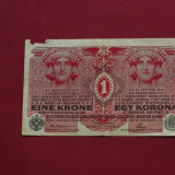 Bancnota Straine - 1 korona - krone - coroane 1916