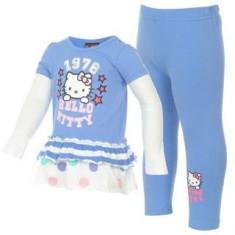 PROMO!!! Set Hello Kitty rochita si colanti albastri - 3-4 ani, 4-5 ani, Marime: XS/S, Culoare: Bleu