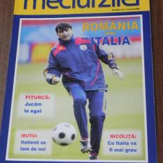 Program fotbal MECIUL ZILEI NR 3 - ROMANIA - ITALIA 13 IUNIE 2008 - CAMPIONATUL EUROPEAN DE FOTBAL 2008 - Program meci
