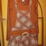 Rochie/ rochita pentru colanti, Marime: M/L, Culoare: Cappuccino, Lunga
